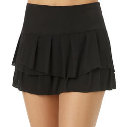 Wavy Pleat Tier Skirt Women