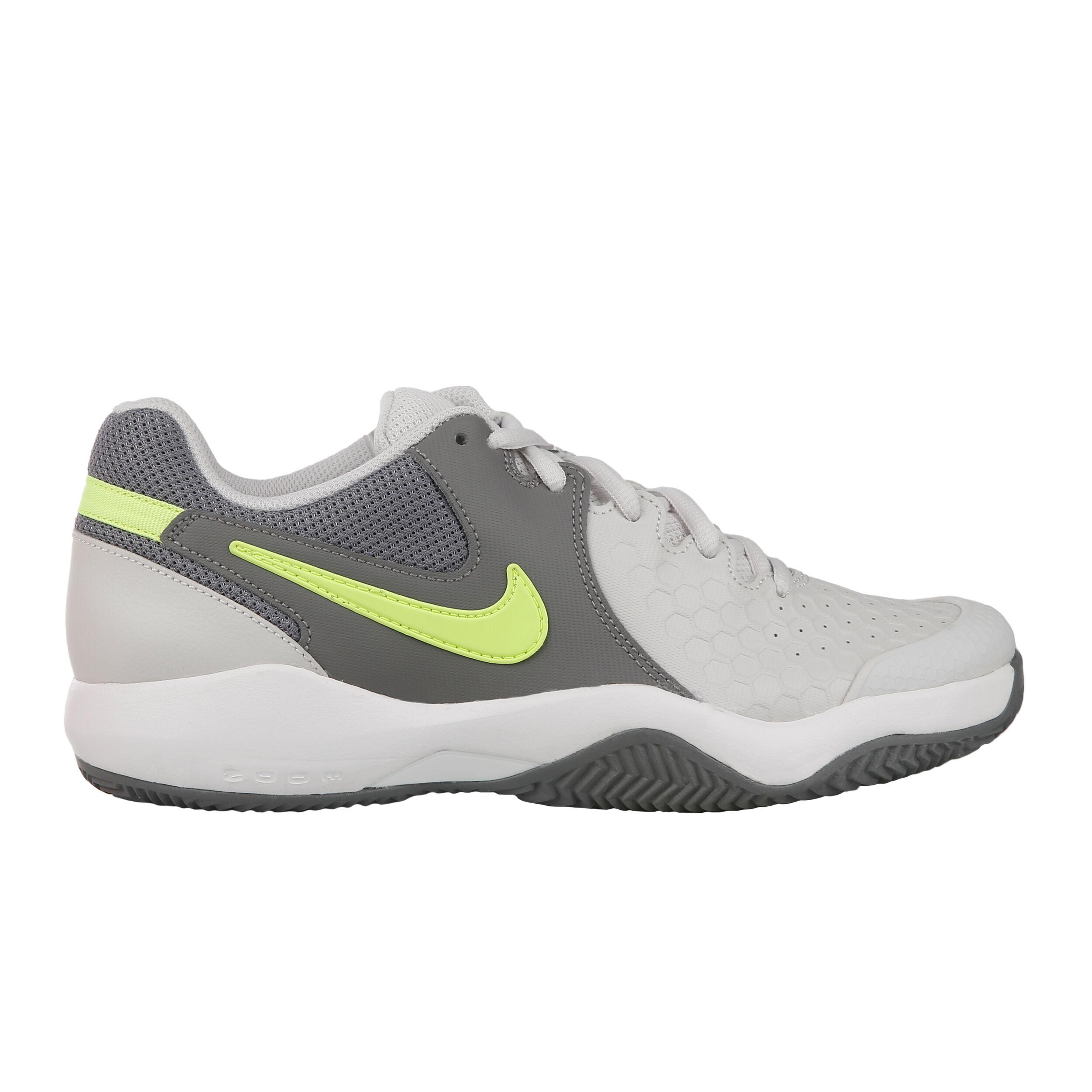 Nike Air Zoom Resistance Clay Sko För Grus Damer Ljusgrå, Neongul