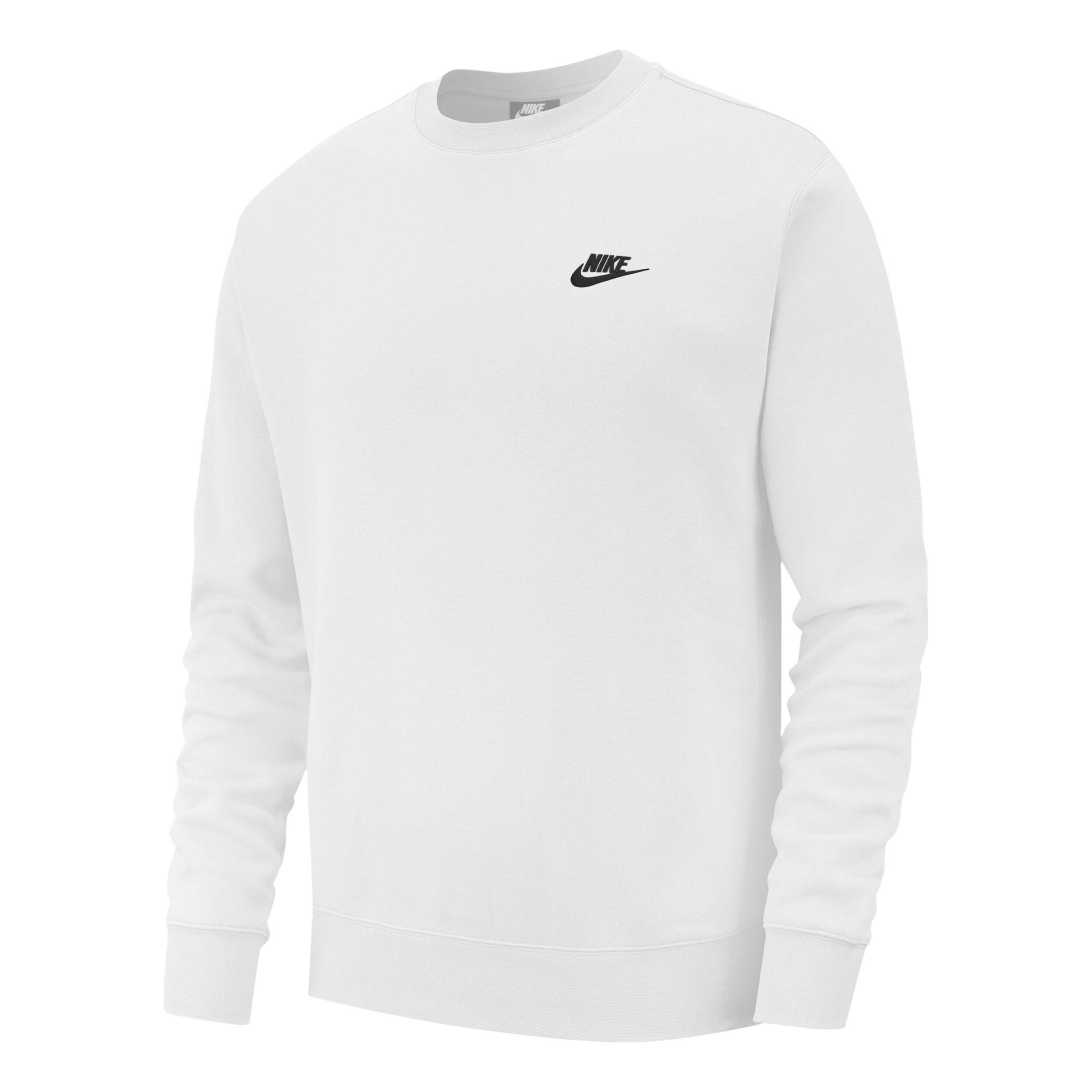 Nike Sportswear Club Crew Huvtröja Herrar Vit, Svart