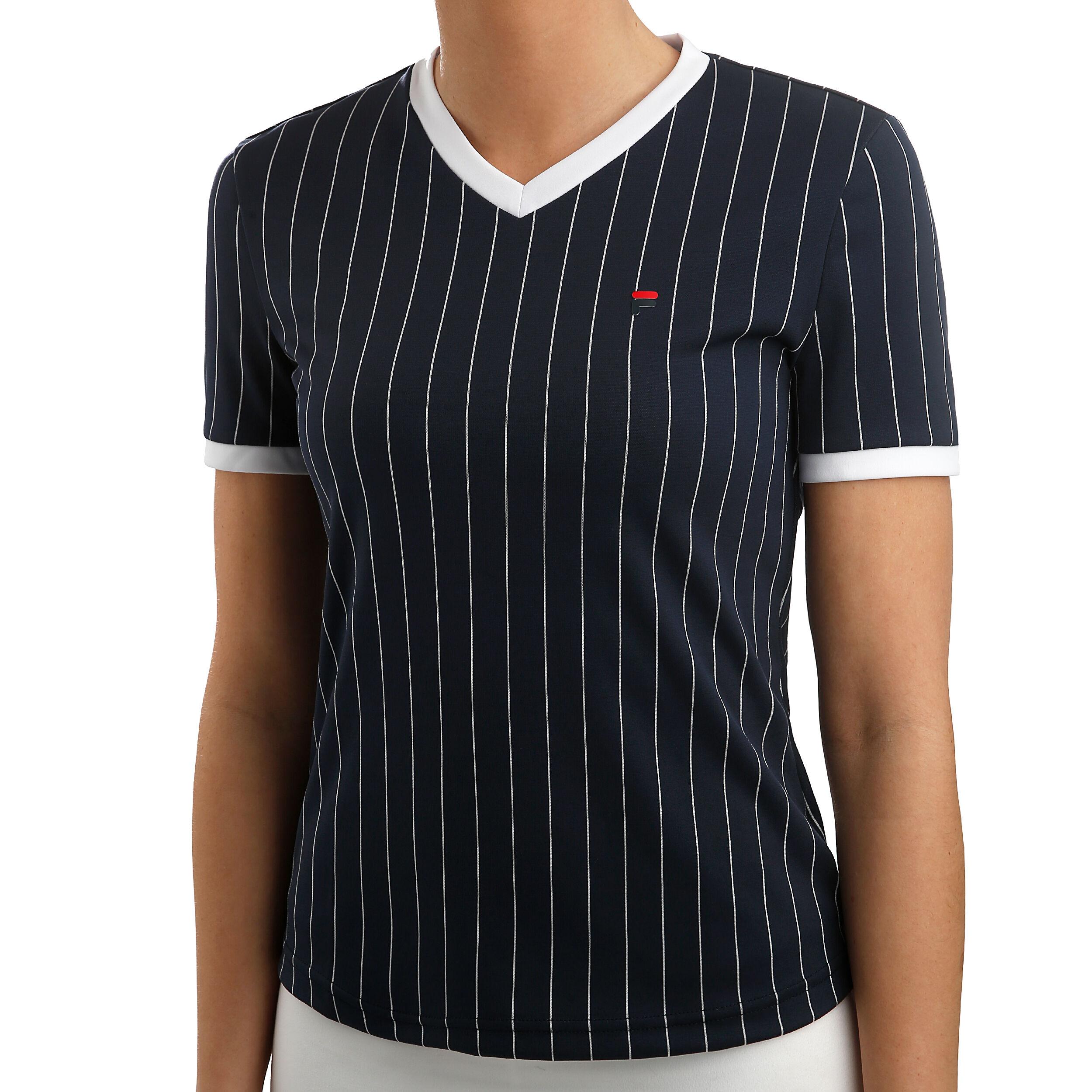 Fila Pearl T shirt Damer Mörkblå, Vit köp online | Tennis