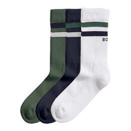 Double Stripe Ankle Crew Sock