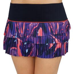 Illusion Pleated Scallop Skirt Women
