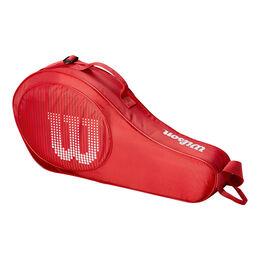 Junior 3er Racketbag red white
