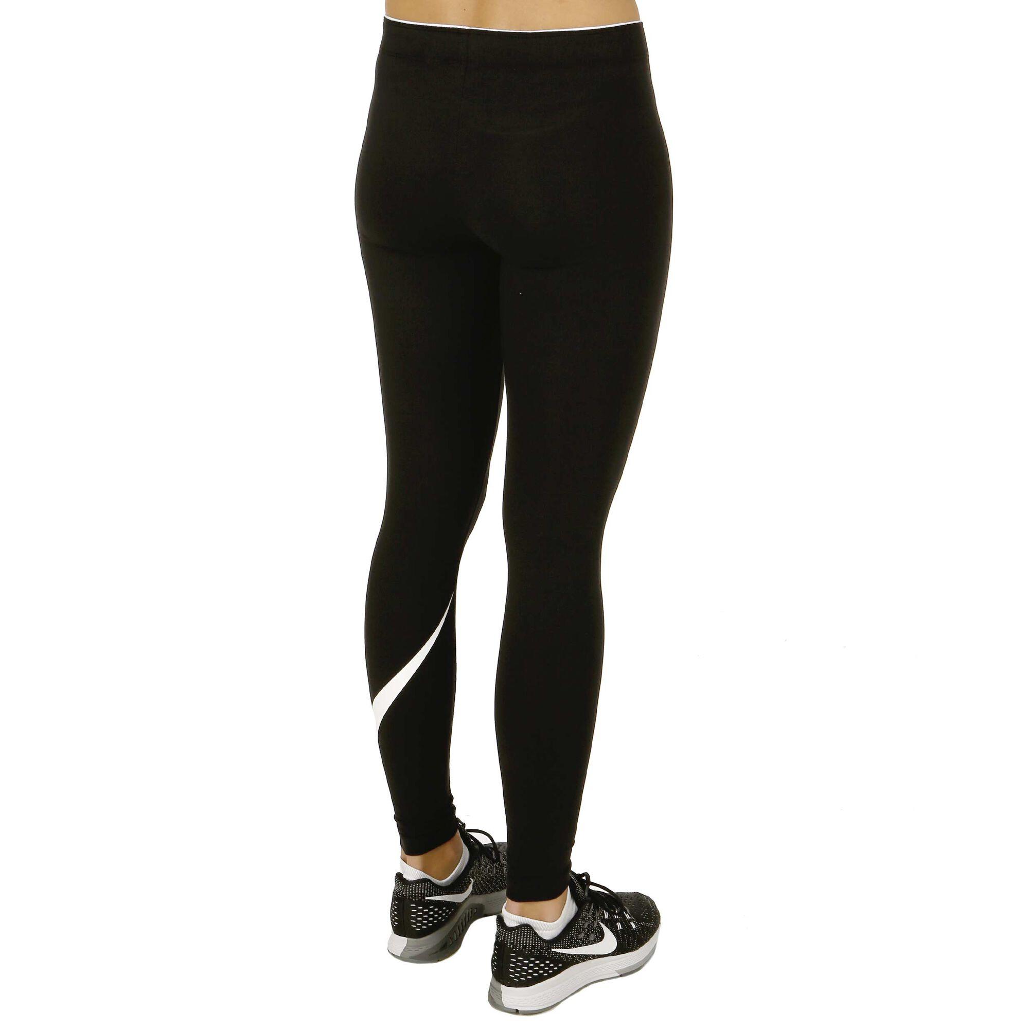 3b1f8316ace1 Nike Sportswear Swoosh Tights Damer - Svart, Vit köp online | Tennis ...