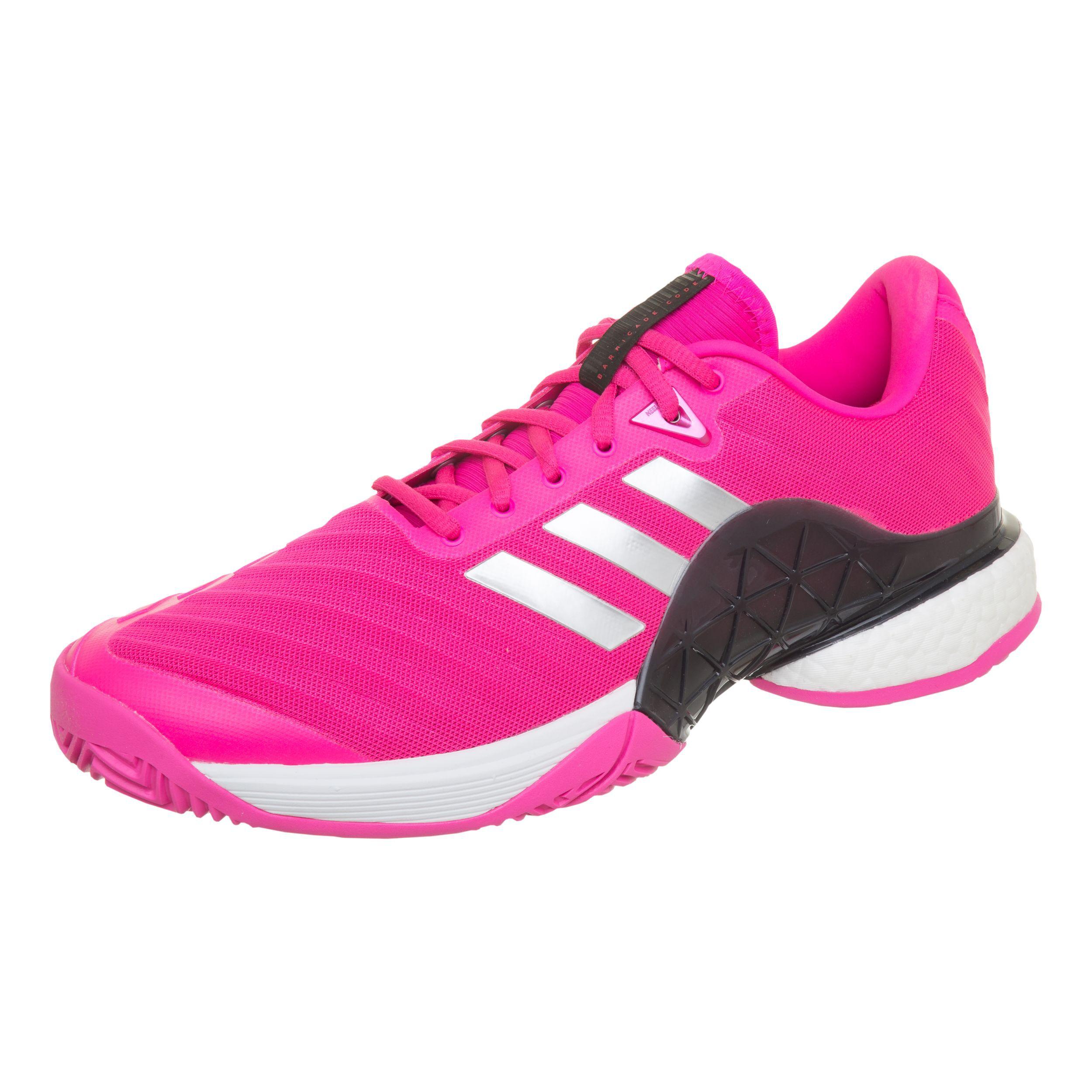 adidas Barricade 2018 Boost Allroundsko Herrar Pink, Vit