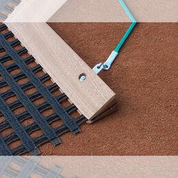 Favorit-Schleppnetz, doppellagig schwer mit Holzabziehleiste
