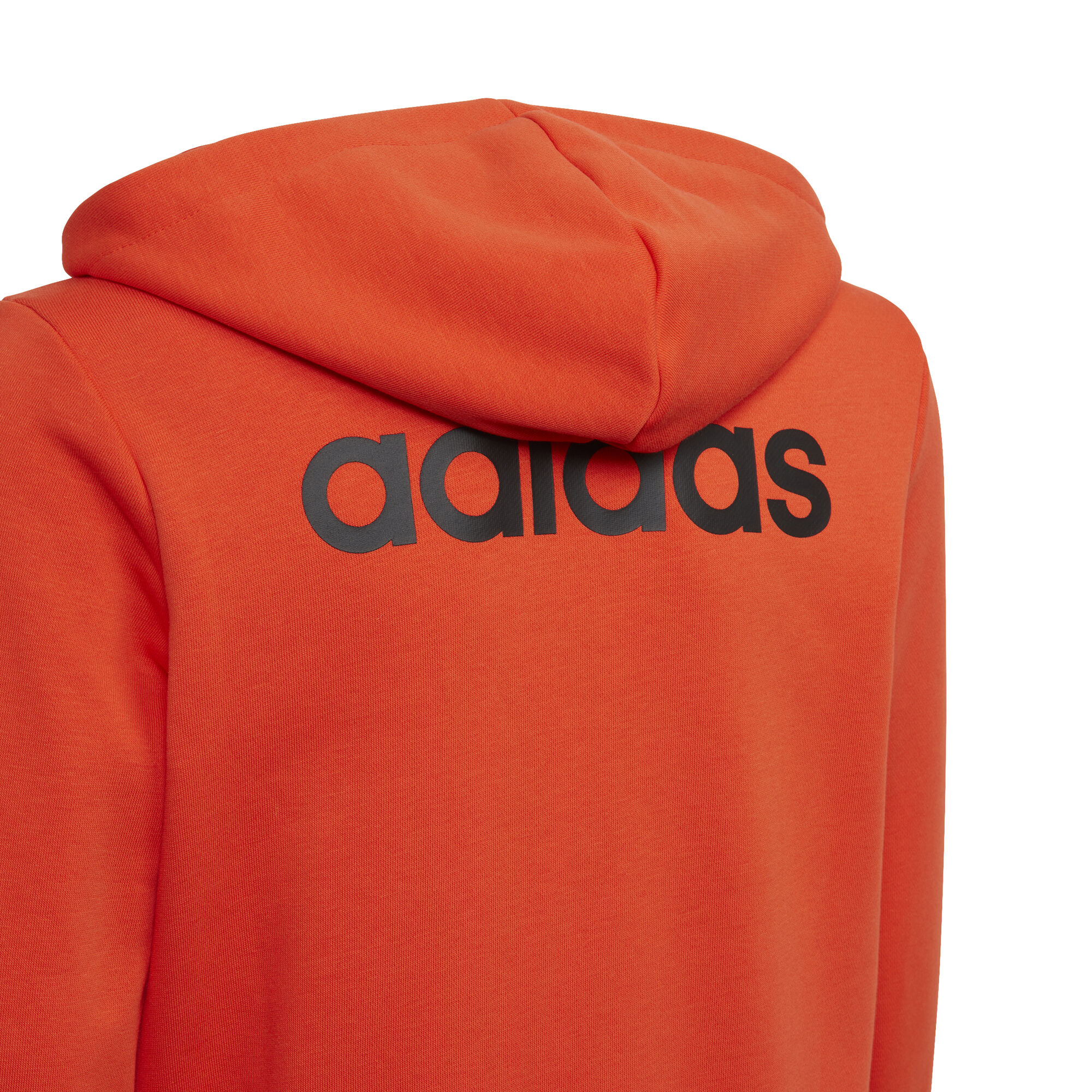 adidas Essentials Linear Full Zip Sweat jacka Pojkar Orange, Svart