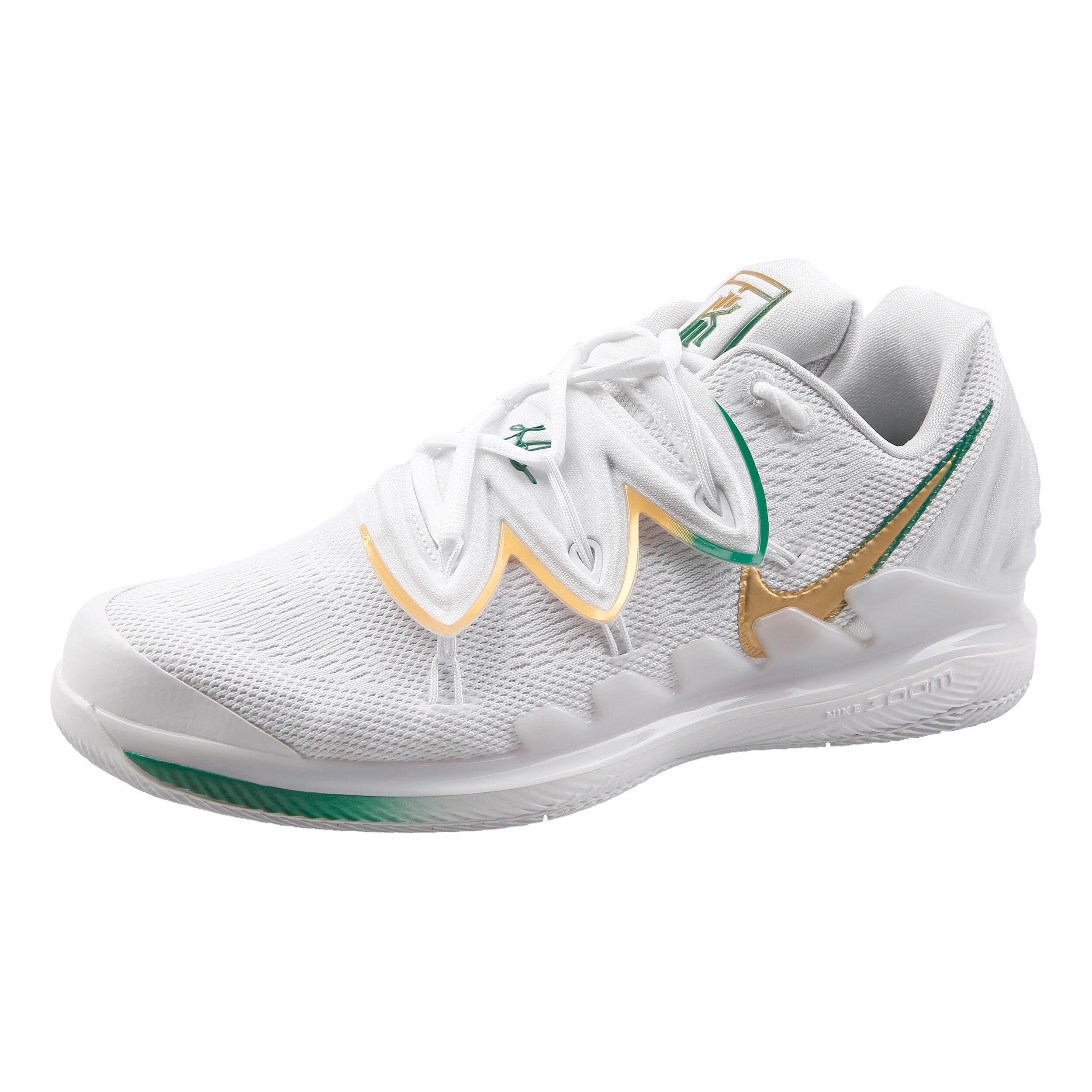 Nike Air Zoom Vapor X Kyrie V Allroundsko Herrar Vit, Guld