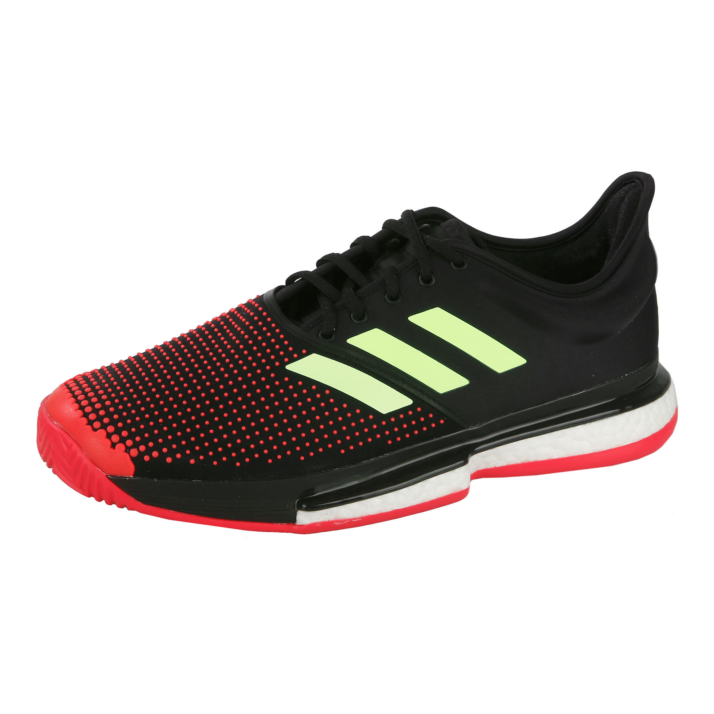 adidas SoleCourt Boost Clay core blackhi res yellowshock red