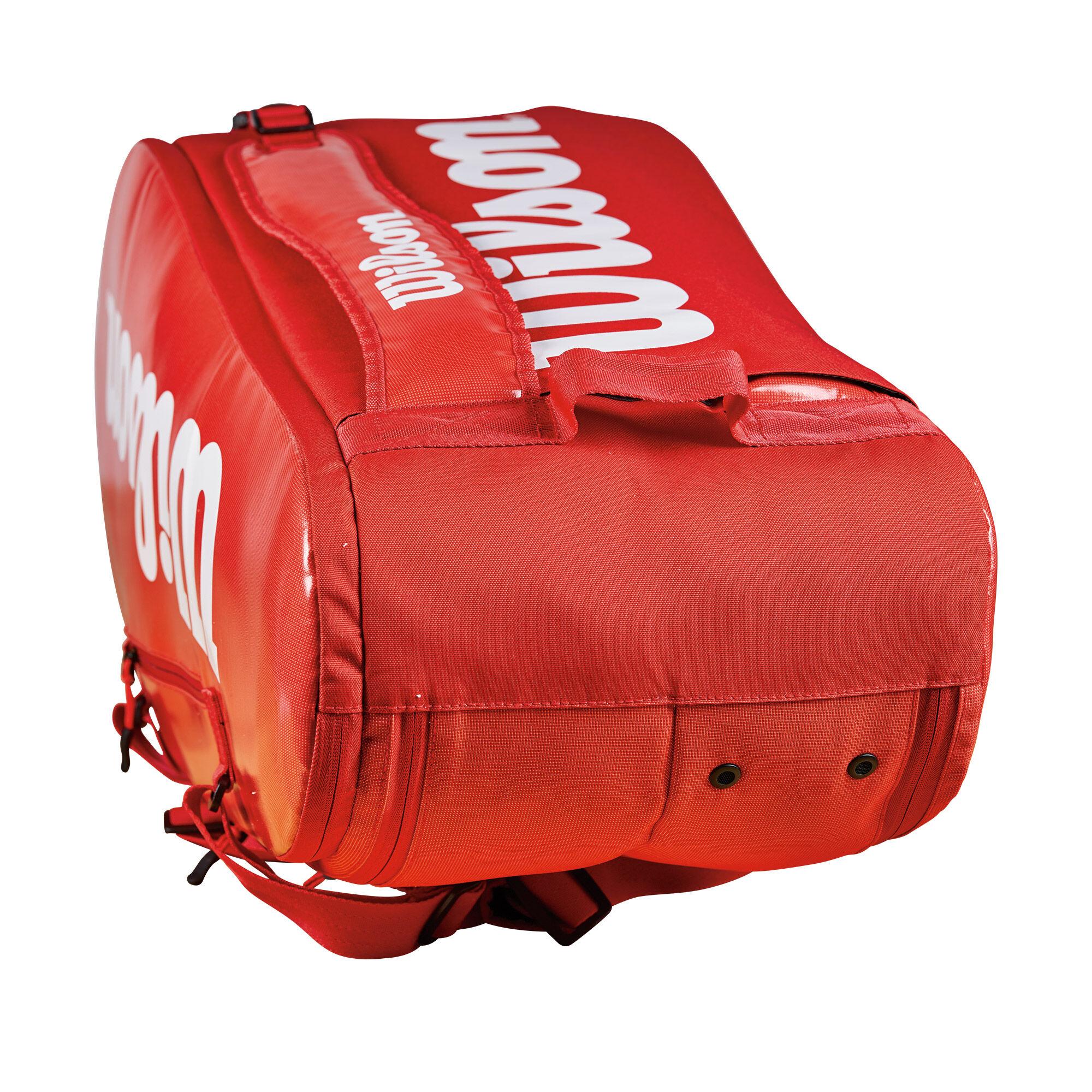 Wilson Super Tour 2 Comp Racketväska Liten Röd, Vit köp